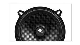 El cono compuesto de fibra te ofrece un sonido nítido con la más baja distorsión