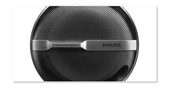 Stylish speaker grille protects against damage