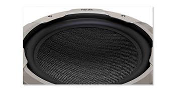 高密度合成單體,提供渾厚深沈的低音增強效果