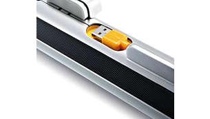 Conector USB para cargar y reproducir