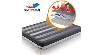 HeatProtect regula la temperatura