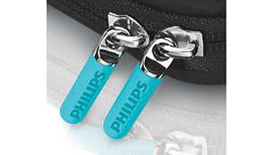 Rubberised scratch-free zips