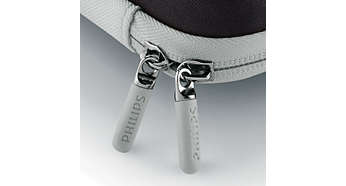 Rubberised scratch-free zips