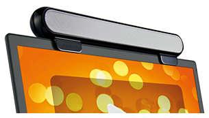 Puedes colocarlo en la parte superior de la pantalla o usarlo de forma independiente.