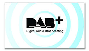 Clear and crackle-free DAB+ radio