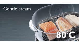 """Функция Gentle Steam (""""мягкий пар""""): сохраните нежную структуру и насыщенный цвет рыбы"""
