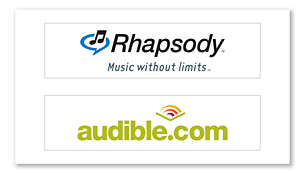 More content choices, with Rhapsody and Audible support