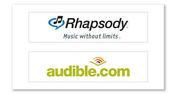 Plus de contenu avec Rhapsody et Audible