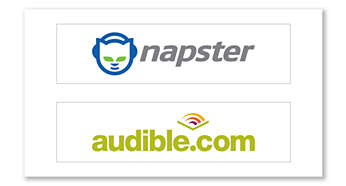 More content choices, with Napster and Audible support