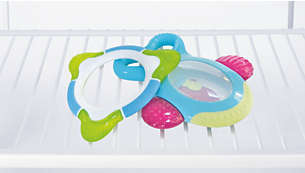 Can be placed in the fridge to cool teether