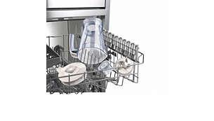 Todas las piezas desmontables son aptas para el lavavajillas