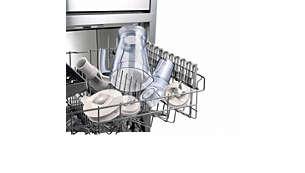 يمكن غسل كافة القطع القابلة للفك بأمان في غسالة الأطباق