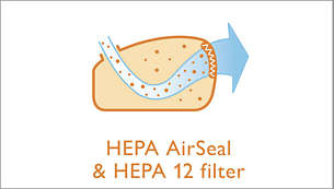 EPA AirSeal in filter EPA 12