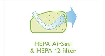 HEPA AirSeal en wasbaar HEPA 12-filter