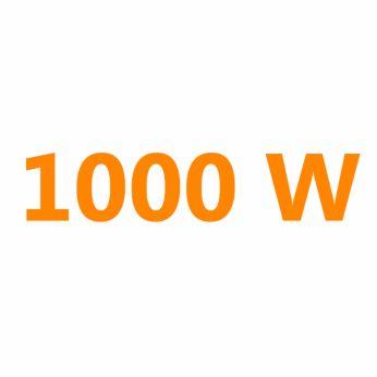 1000 Watt for faster heating