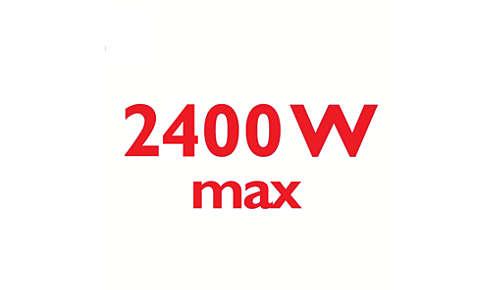 2400W voor een korte opwarmtijd