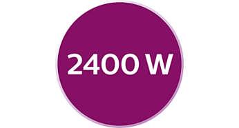 2400 W, lämpenee nopeasti