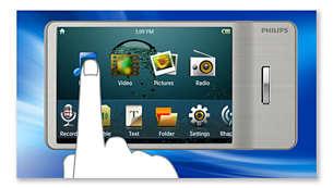 Сенсорное управление с экрана для простого и понятного перемещения в меню