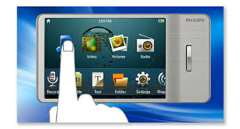 Touch-screen control for smooth and intuitive navigation