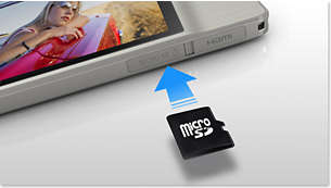 microSD card slot for expanded memory capacity