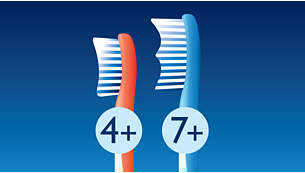 Age-appropriate brush heads to protect kid's teeth