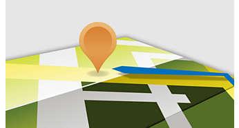 GPS integrado para navegación expedita