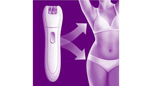 Cordless mini epilator for precise details