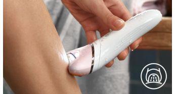 Le système Opti-Light permet d'épiler les poils les plus difficiles d'accès