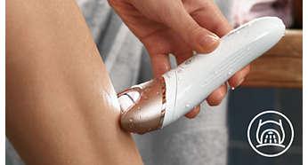 Lampka Opti-light pomaga uwidocznić włoski i ułatwia ich usuwanie