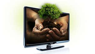40 % mer energieffektiv än vanliga platt-TV-apparater