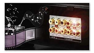 Vergulde AV-aansluitingen voor het beste beeld en geluid