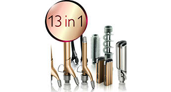 13 piece heatstyler set for unlimited versatility in styling