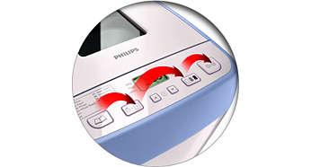 Intuitiv bruk med brukervennlige knapper for alle brukere
