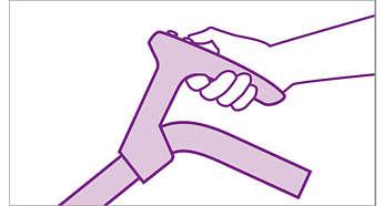 Poignée ComfortControl pour un contrôle du bout des doigts