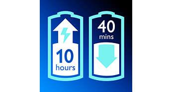 Optimal frihet med 40 minuters sladdlös användning