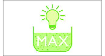 Indicator light shows when bucket needs emptying