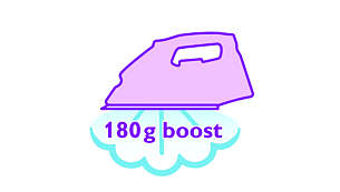 180 g steam boost to remove stubborn creases easily