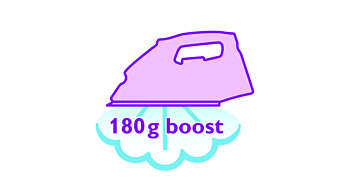 Steam boost up to 180 g