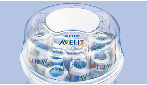 Holds six Philips Avent bottles