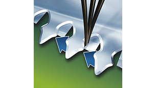Cuchillas autoafilables de acero inoxidable para obtener resultados precisos