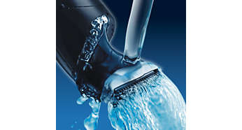 Cleans under the tap for fast and easy cleaning