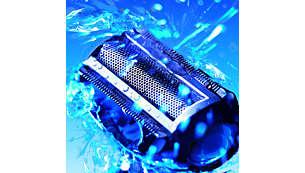 Utilisable à sec ou sous l'eau (dans la douche), nettoyage facile