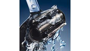 Våt och torr användning; för användning i duschen och enkel rengöring