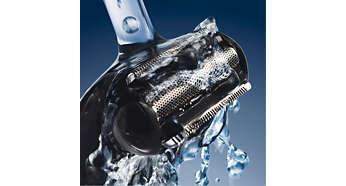 Nass und trocken einsetzbar: Zur Verwendung unter der Dusche und für eine leichte Reinigung