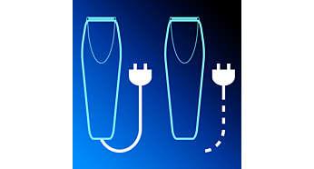 Anwendung mit Kabel oder kabellos für maximale Leistung und Flexibilität