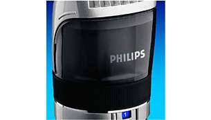 Transparente Bartauffangkammer für sichtbare Kontrolle