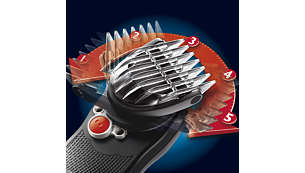180° pivoting clipper head for maximum reach in all areas