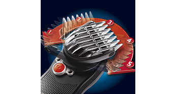 180° pivoting clipper head for maximum reach in all areas