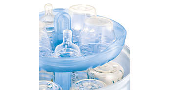 Holds up to six Philips Avent Bottles
