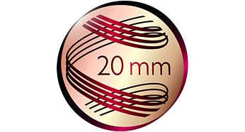 Capit 20mm untuk ikal yang indah